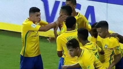 Os gols de Brasil 3 x 0 Honduras pelas oitavas de final do Mundial sub-17
