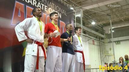 Diego San Ep04: repórter-carateca ganha prata em sua segunda competição nacional