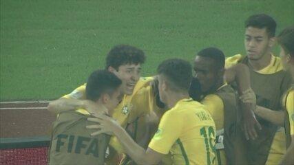 Os gols de Alemanha 1 x 2 Brasil pelas quartas de final do Mundial sub-17