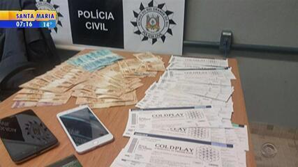 Casal é preso em Porto Alegre vendendo ingressos falsos para show do Coldplay