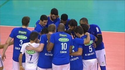 Melhores momentos: Cruzeiro 3 x 1 Sesi pela Superliga masculina de vôlei