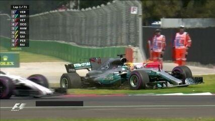Hamilton e Vettel levam a pior na largada do GP do México