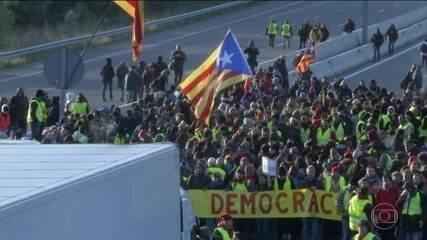 Greve na Catalunha provoca bloqueios em mais de cinquenta avenidas