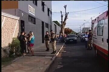 Em Uberaba, homem é baleado por assaltante dentro de empresa