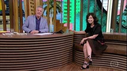 Fernanda Torres lembra casamento com Bial
