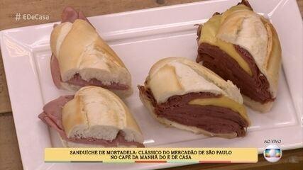 Sanduíche de Mortadela do 'É de Casa'
