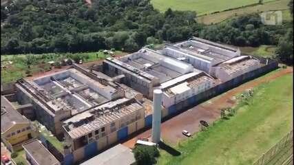 Imagens aéreas mostram estragos na Penitenciária de Cascavel após rebelião