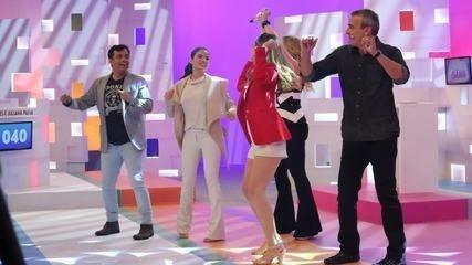 Juliana Paiva e Alexandre Borges dançam hit de Anitta no 'Vídeo Game'