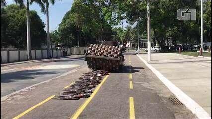 Duas mil armas são destruídas em cerimônia no RJ