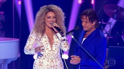 Roberto Carlos canta 'Despacito' com Erika Ender