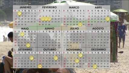 Em 2018, feriados prolongados garantem 16 dias de descanso