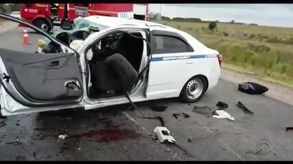 Sete pessoas morrem em acidente no norte do estado, em Santa Vitória do Palmar