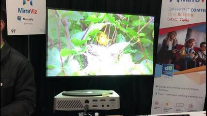 CES 2018: Projetor da MirraViz exibe dois vídeos diferentes em uma tela só
