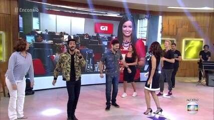 Fátima Bernardes e Mari Palma dançam ao som de Matheus VK
