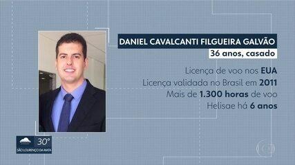 Piloto Daniel Galvão, de 37 anos, morreu na queda do Globocop, no Recife