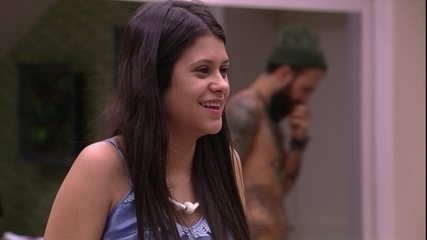 Ana Paula brinca com brothers:  'Vai todo mundo virar peixe'
