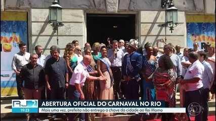 Carnaval é aberto oficialmente, mas prefeito não entrega a chave da cidade ao Rei Momo