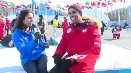 """""""Besuntado de Tonga"""" explica mudança de esporte para participar da Olimpíada de Inverno"""