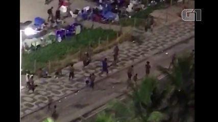 Moradores registram assaltos e agressões na Praia de Ipanema durante a madrugada