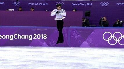 Yuzuru Hanyu faz história e bate recorde olímpico na patinação artística em PyeongChang