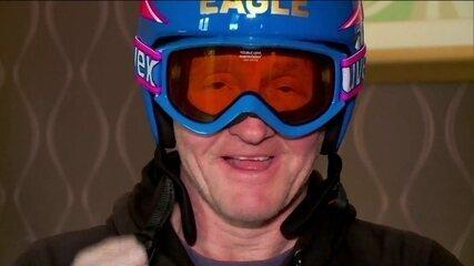 """Atleta Eddie Edwards, o """"The Eagle"""" conta sua história nos Jogos Olímpicos de Inverno"""