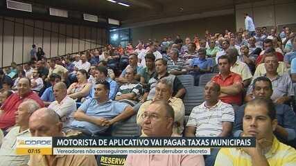 Câmara de Ribeirão Preto mantém regulamentação de transporte por aplicativo
