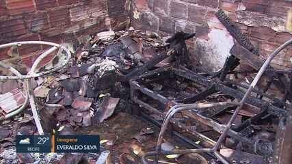 Incêndio criminoso deixa idosos queimados no Grande Recife