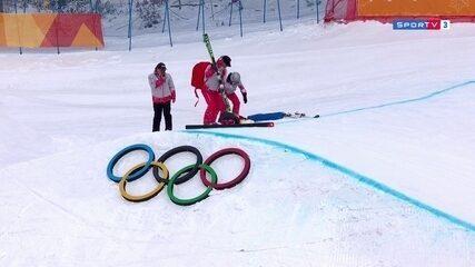 Canadense tem queda feia no Esqui estilo livre, fica desacordada e causa apreensão