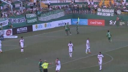 Gol da Chapecoense! Wellington Paulista amplia contra o Concórdia aos 17 do 2º tempo