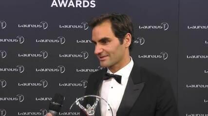 Após receber dois prêmios no Laureus, Federer fala sobre o Retorno do Ano