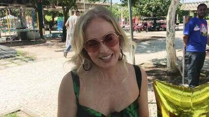 Angélica celebra surpresa de fãs em gravação: 'É um barato a gente receber esse carinho das pessoas'