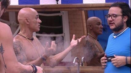 Ayrton comenta sobre brother: 'Tá complicado votar no Diego'