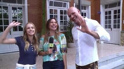 Fernando Scherer visita a filha Isabella nos bastidores de 'Malhação'