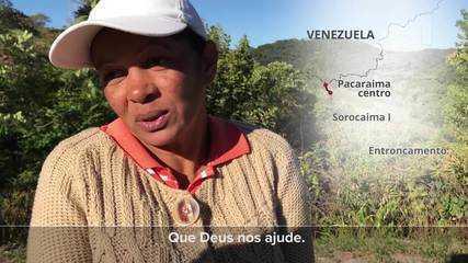 A pé, de carona e com fome, venezuelanos enfrentam 215 quilômetros na BR-174