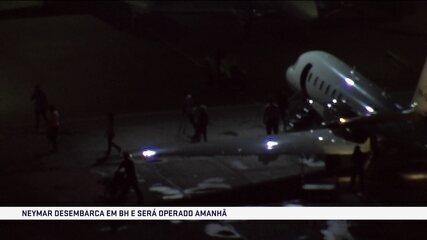 Neymar desembarca em Belo Horizonte para operação neste sábado