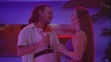 Patrícia reclama de Kaysar com Diego: 'Fez para me irritar'