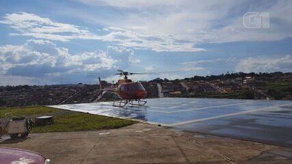 Helicóptero Arcanjo decola para missão de treinamento em Varginha (MG)