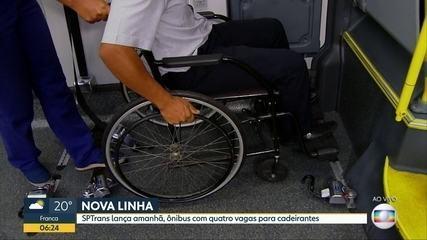 Linha de SP recebe ônibus capaz de atender até 4 passageiros em cadeira de rodas