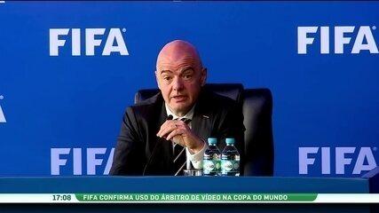 Fifa confirma uso do árbitro de vídeo na Copa do Mundo