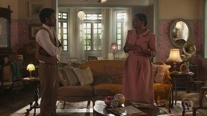 Pepito mostra para Balbina a casa que comprou para ela