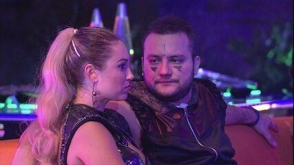 Jéssica revela a Diego sobre voto: 'Não vou no Wagner'