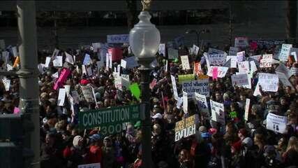 Americanos protestam por mais controle de armas de fogo