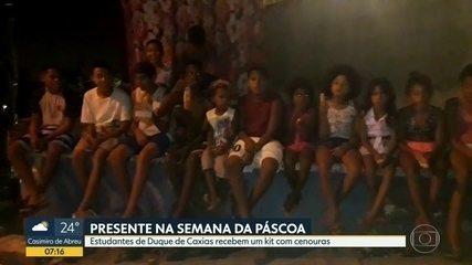 Alunos de Caxias ganham cenouras em vez de ovos de Páscoa