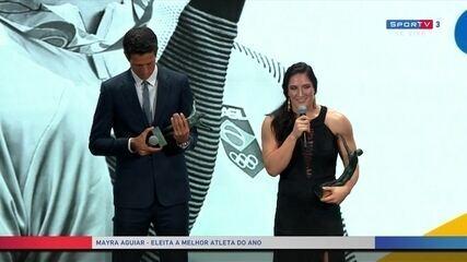 Mayra Aguiar fala da superação após cirurgia em 2017 até o título mundial