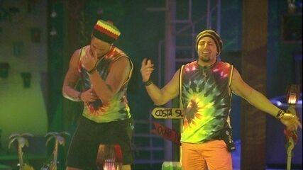 Kaysar e Breno cantam e dançam empolgados na Festa Reggae
