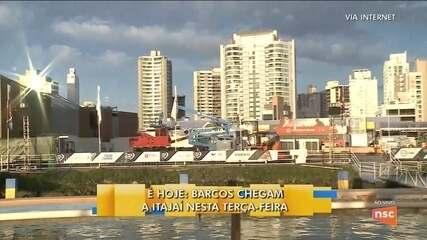 Barcos da Volvo Ocean Race chegam a Itajaí na manhã nesta terça-feira (3)
