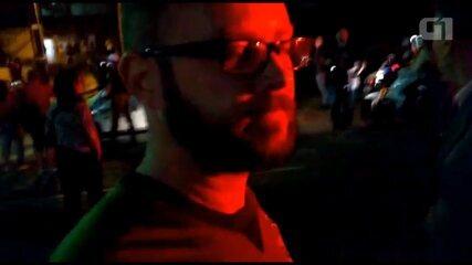 Manifestante diz que bomba explodiu no pé dele