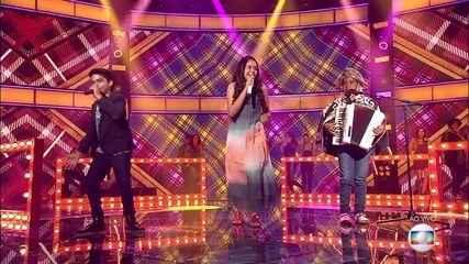 Eduarda Brasil, Kayro Oliveira e Alerrandro Costa, cantam 'Eu me Amarrei'