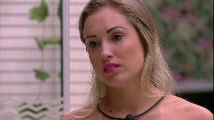 Jéssica diz a Kaysar: 'Jurava que a Paula ia votar em mim'