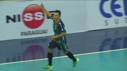 Os gols de Marreco Futsal 5 x 4 Foz Cataratas pela Liga Nacional de futsal